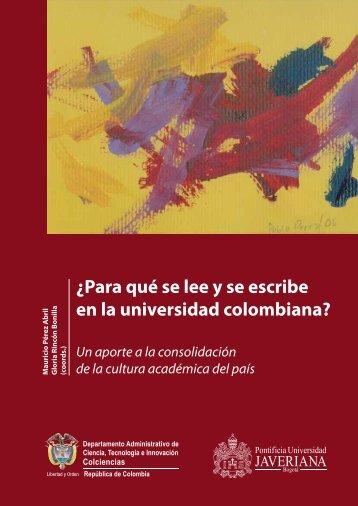 ¿Para qué se lee y se escribe en la universidad colombiana?