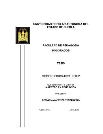 MODELO EDUCATIVO UPAEP - Biblioteca - Universidad Popular ...