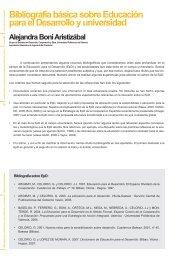 Educación para el Desarrollo y universidad - Biblioteca Hegoa ...