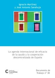 La agenda internacional de eficacia de la ayuda - Fundación Carolina