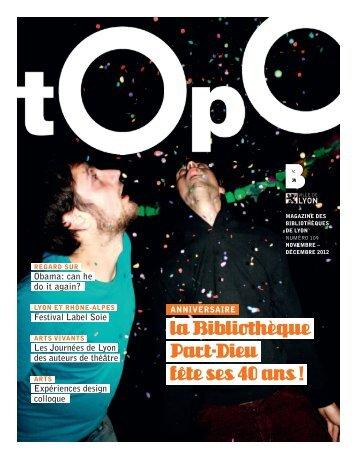 Topo novembre décembre 2012 - Bibliothèque municipale de Lyon