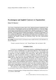 Psychological and implied contracts in organizations d.m. rousseau  1989