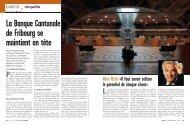 Lire l'article du magazine Bilan - Banque Cantonale de Fribourg