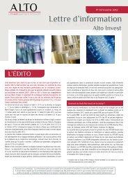 Lettre d'information 2012 T4 - Haussmann Patrimoine