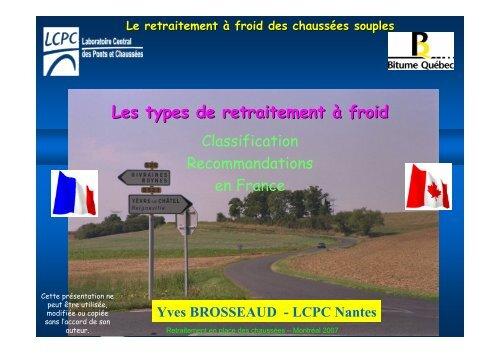 Les types de retraitement à froid - Yves Brosseaud 3,12 mb