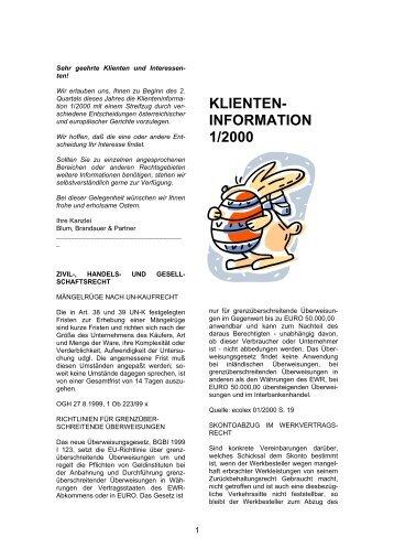 KLIENTEN- INFORMATION 1/2000