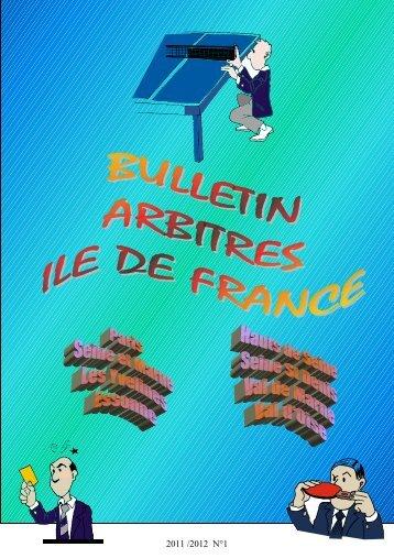 Numéro 1 - Ligue d'Ile de France de Tennis de Table