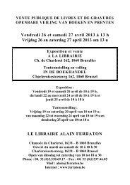Vendredi 26 et samedi 27 avril 2013 à 13 h Vrijdag 26 ... - Bibliorare