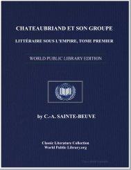 chateaubriand et son groupe littéraire sous l'empire, tome premier