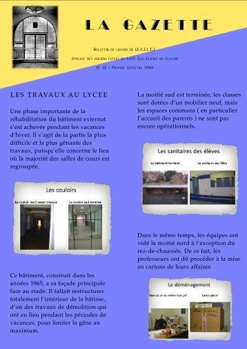 LA GAZETTE - Aaelgl.asso.fr