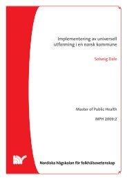 Implementering av universell utforming i en norsk ... - Husbanken