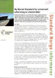standard , norge Ny Norsk Standard for universell ... - Husbanken