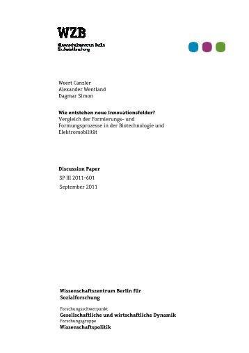 SP III 2011-601 - Bibliothek - WZB