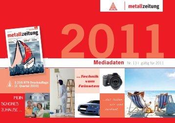 """2 ! ! $ !"""" 2011 Mediadaten - Zweiplus Medienagentur"""