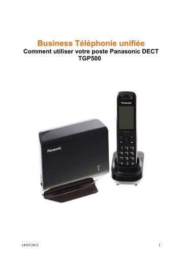 Notice Panasonic Dect - Orange Business Services