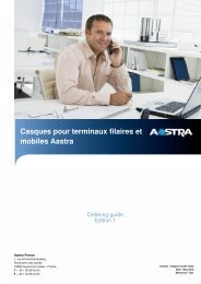 Ordering guide casque aout 2010 - Aastra France Extranet