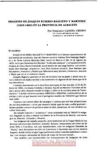IMAGENES DE JOAQUIN EUSEBIO BAGLIETO Y MARTINEZ (1829 ...
