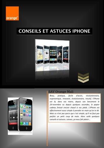Conseils et Astuces iphone - Orange Mali