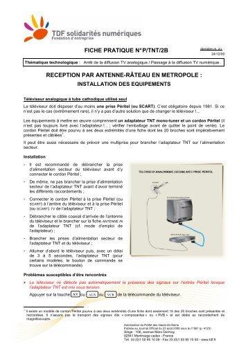 FICHE PRATIQUE N° P/TNT/2B RECEPTION PAR ANTENNE ...