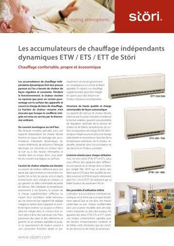 Appareil de chauffage à accumulation indépendant [PDF] - Störi AG