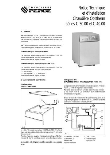 Notice Technique et d'Installation Chaudière Optitherm ... - Perge