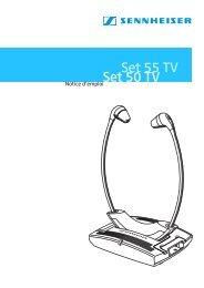 Set 50 TV/Set 55 TV - Sennheiser