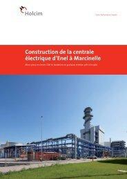 Construction de la centrale électrique d'Enel à Marcinelle - Holcim