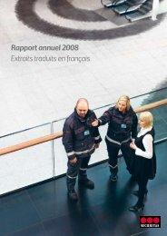 Rapport annuel 2008 Extraits traduits en français - Securitas Group