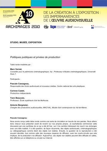 Texte intégral - Inp - Institut national du patrimoine