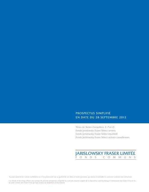 2012 - Jarislowsky, Fraser Limited