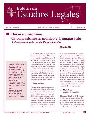 Hacia un régimen de concesiones armónico y ... - Biblioteca UTEC