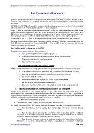 Les instruments financiers - Procomptable.com