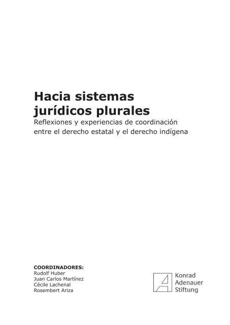 Hacia Sistemas Jurídicos Plurales Biblioteca Utec