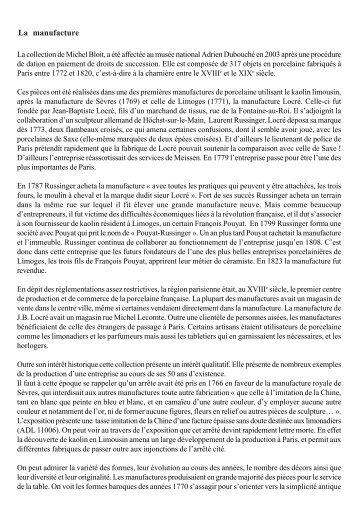 Catalogue de l'exposition - Musée national Adrien Dubouché