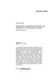 Implementation von Jobrotation im Gesundheits- und ... - WZB