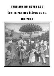 FABLIAUX DU MOYEN AGE ÉCRITS PAR DES ÉLÈVES DE 5E ...