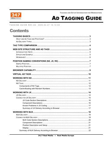 Ad Tagging Guide - 24/7 Real Media