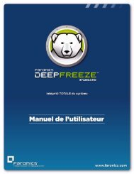 Utilisation de Deep Freeze - Faronics