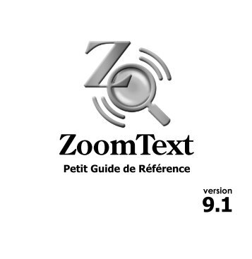 Activer ZoomText - Ai Squared