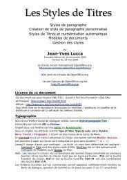 Les Styles de Titres - OpenOffice.org