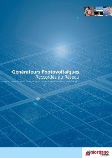 Générateurs Photovoltaïques Raccordés au Réseau