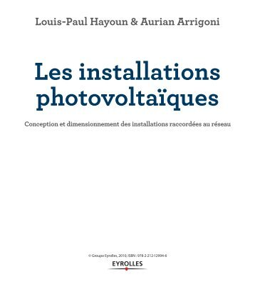 Premi re partie premie - Les installations photovoltaiques ...
