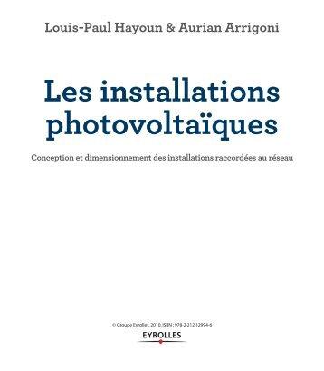 Premi re partie premie - Les installations photovoltaiques ...