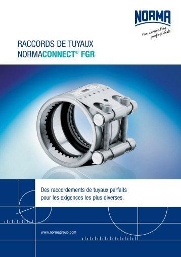 RACCORDS DE TUYAUX NORMACONNECT® FGR - NORMA Group