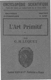 L'Artt Primitif - Georges-Henri LUQUET