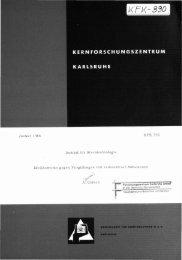 Januar 1966 Institut für Strahlenbiologie KFK 390 ... - Bibliothek