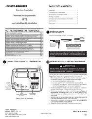 table des matières préparatifs votre thermostat remplace - Emerson ...