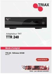 Manuel TTR 240 en Français - Triax