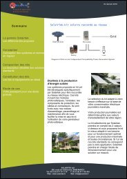 Kit photovoltaique raccodé au réseau de SOLAIRTEK