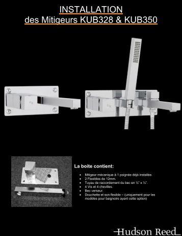 Guide d'installation KUB328 & KUB350 - Hudson Reed